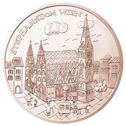 10 Euro coin Austria St Stephen's Cathedral in Vienna image