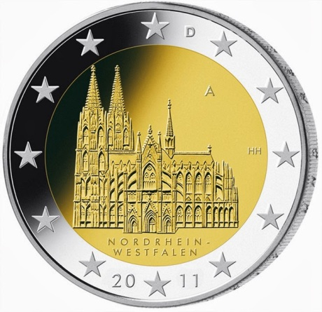 2 Euro coin Germany Cologne Cathedral image