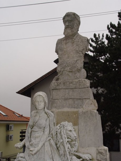 Monument by Ivan Rendic 1903 instead of a mere tombstone for Ante Starcevic grave Sestine, Zagreb, Croatia