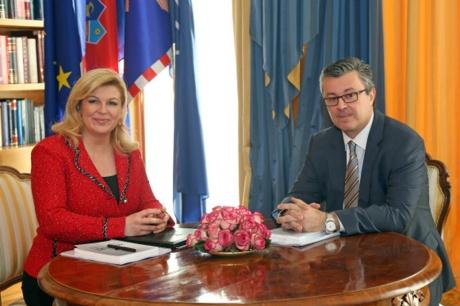 President Kolinda Grabar-Kitarovic and CRoatia's Prime Minister Tihomir Oreskovic January 2016 Photo: HINA/ Damir SENČAR /ds