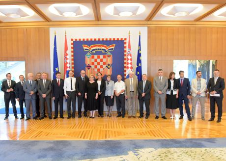 President of Croatia Kolinda Grabar-Kitarovic with the members of her Economic Council July 2015