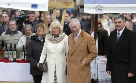 Prince Charles and Camilla in Osijek, Croatia 15 March 2016