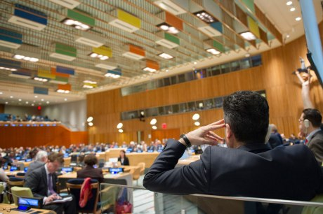 UN Assembly 13 April 2016 Hearing what Secretary General candidates have to say UN Photo/ Rick Bojornas