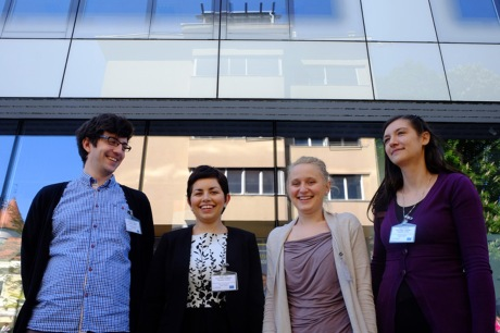 From left: Jurica Polancec, Matea Filko, Dasa Farkas and Diana Hriberski The HR4EU Team Photo: HINA/ Ivan Saravanja