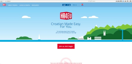 Homepage HR4EU Photo: Screenshot