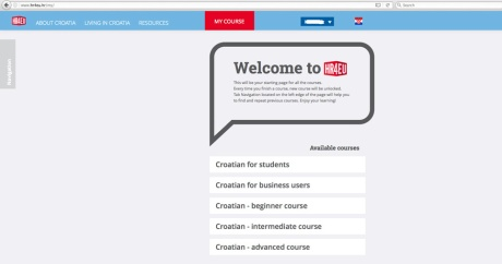 Learning Croatian on HR4EU http://www.hr4eu.hr/ Photo: Screenshot