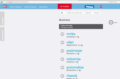 Learning Croatian HR4EU Photo: Screenshot