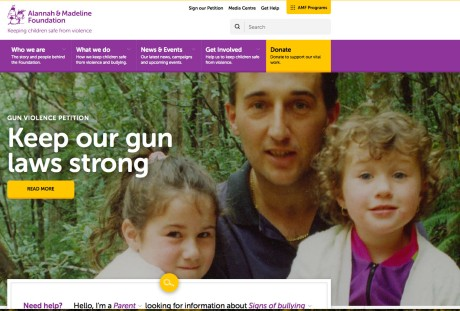 Walter Mikac and lost daughters: Alannah and Madeline Photo: Screenshot Alannah and Madeline Foundation https://www.amf.org.au/gun-violence-petition/