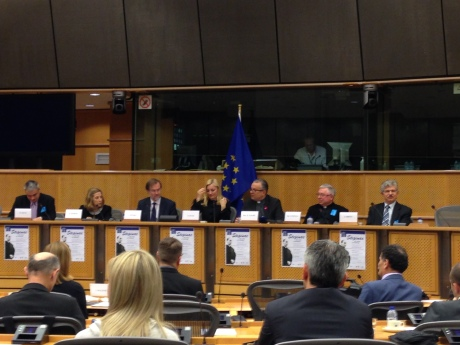 Second from left: Dr Esther Gitman Alojzije Stepinac Conference EU Parliament