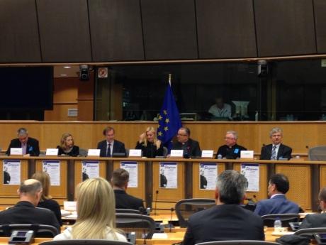 Second from left: Dr Esther Gitman Alojzije Stepinac Conference EU Parliament