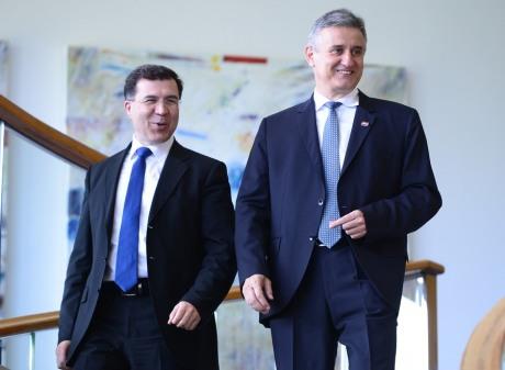 Left: Domagoj Ivan Milosevic, Gen Sec. HDZ Right: Tomislav Karamarko, President HDZ Photo: Marko Prpic/Pixsell