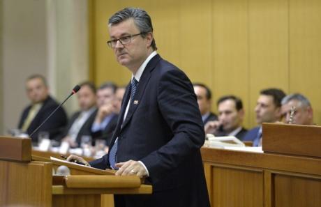 Tihomir Oreskovic, fallen Prime Minister of Croatia Photo: Marko Lukunic/Pixsell