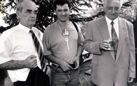 6 August 1995 at Knin, Croatia Operation Storm had liberated Croatia from Serb Occupation From left: Gojko Susak (Croatia's defence minister), Ante Gugo (war correspondent.reporter), Franjo Tudjman (president of Croatia)