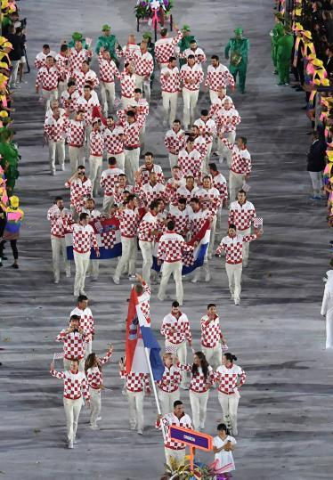 Olympics 2016 Rio Opening ceremony Croatia team among best dressed