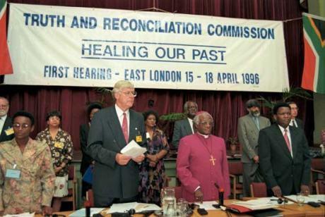 Archbishop Desmond Tutu (Centre) Photo: Benny Gool/ onyx media