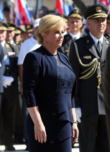 Croatia's President Kolinda Grabar-Kitarovic at Knin 21st Anniversary of Operation Storm 1995 Photo: Dusko Jaranaz/Pixsell