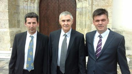 Pero Barbaric Pepi (L) General Zeljko Glasnovic (C) ILija Cvitanovic (R)