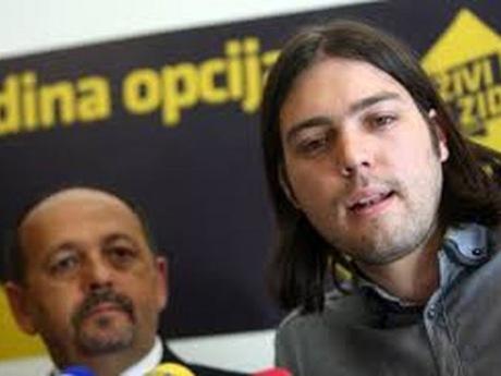 Ivan Lovrinovic (L) and Ivan Vilibor Sincic (R) Only Option Coalition Photo: makarsko-primorje.com