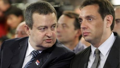 (L) Ivica Dacic, Serbian foreign minister (R) Aleksandar Vulin, Serbian labour, employment minister Photo: Tanjug/Nenad Milosevic