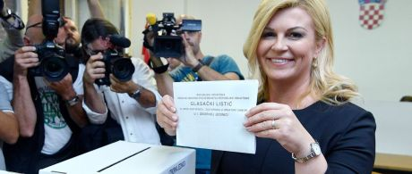 President Kolinda Grabar-KItarovic votes/ 11 September2016 Photo: Ronald Gorsic/Cropix