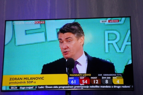 SDP president Zoran Milanovic announces resignation from leader of opposition Photo: Nova TV news 11.09.2016/Connor Vlakancic