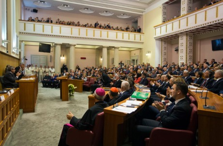 New Croatian Parliament inaugural meeting 14 October 2016 (AP Photo/Darko Bandic)