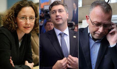 From left: Nina Obuljen, Andrej Plenkovic and Zlatko Hasanbegovic Photo: Hanza Media