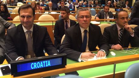 "UN September 2016 From Left: Miro Kovac (former foreign minister, Croatia), Vladmir Drobnjak - Croatian permanent representative at UN, Gordan Bakota, assistant to former foreign minister Photo: hrt.hr In preparing the document for Croatia's candidacy as member of UNHRC Croatia's former foreign minister Miro Kovac noted: ""One of the greatest achievements of the development of human rights is the idea that human rights belong to everyone simply by virtue of being a member of the human family. Therefore, we all share great responsibility to protect, promote and advance human rights of all human beings, without any discrimination."""