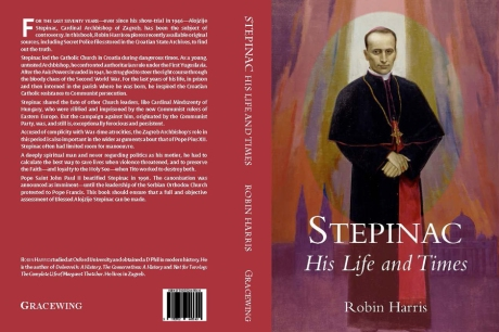 """Stepinac - His Life and Times"" by Robin Harris cover"