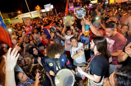 Exuberant Cuban exiles in Miami celebrating Fidel Castro's death Photo:Gaston de Cardenas/ Reuters
