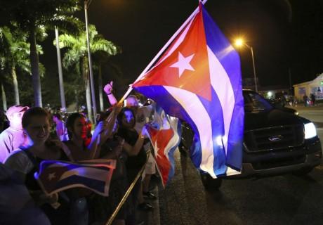 Cuban exiles in the US celebrate Fidel Castro's death Photo: David Santiago/ El Nueva Herald/ AP