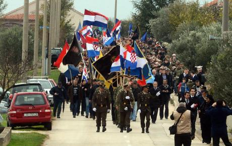 Remembrance march 2016 Skabrnja, Croatia Photo: HINA/ ml