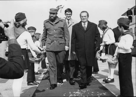 Fidel Castro (L) with Josip Broz Tito visiting Croatia's Brijuni 1976. Photo: The Museum of History of Yugoslavia/ Belgrade