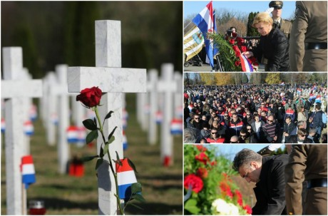 Vukovar remembers 25 Years since Battle of Vukovar Top R: President Kolinda Grabar-Kitarovic Bottom R: Prime Minister Andrej Plenkovic Photo collage: Vecernji List