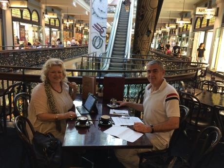 Ina Vukic (L) General Zeljko Glasnovic MP (R) interview in Sydney, Australia, 8 December 2016