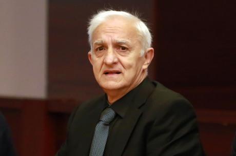 Dragan Vasiljkovic November 2016 On trial for war crimes in Croatia Photo: Miranda Cikotic/Pixsell