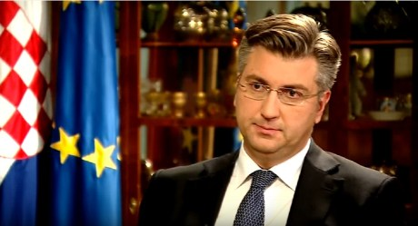 Croatian Prime Minister Andrej Plenkovic Photo: Screenshot hrt.hr 13 January 2017