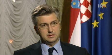 Croatian Prime Minister Andrej Plenkovic Photo: Screenshot HRT TV news