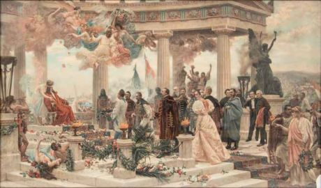 Croatian National Revival Painting by Vlaho Bukovac 1895