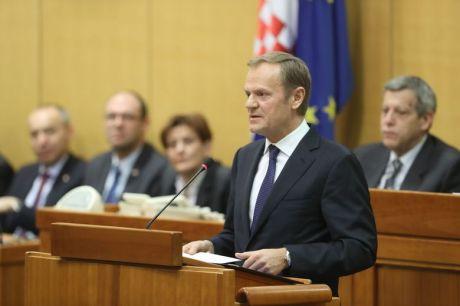 Donald Tusk President of European Council addresses Croatian Parliament 16 January 2017 Photo:Pool/FA/Cropix