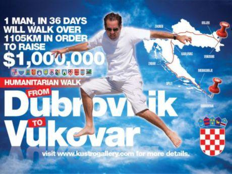 Steve Kustro Humanitarian Walk poster Photo: Steve Kustro
