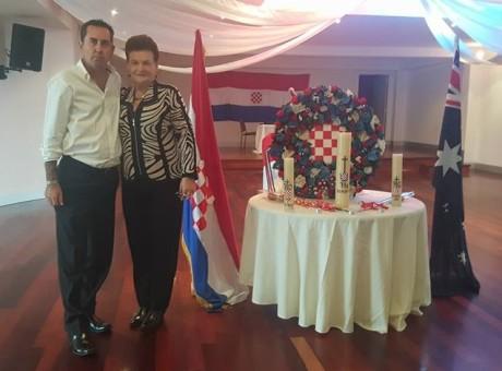 Steve Kustro and Ljiljana Herceg Croatian Cultural Association Bosnia - Sydney, Australia Photo: Steve Kustro