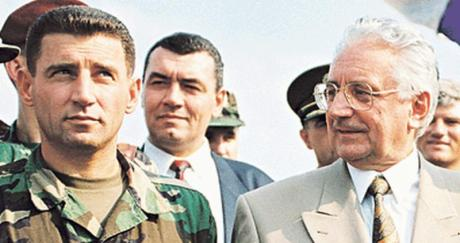 General Ante Gotovina (L) and Croatian President Franjo Tudjman (R) August 1995 - at the Victory of OPeration Storm