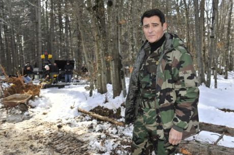 Goran Visnjic during filming of the General - February 2017 Photo: mojTV.hr